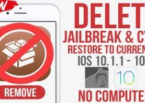 restore without losing jailbreak
