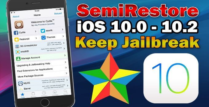 semi restore for ios 10/10.1.1/10.2