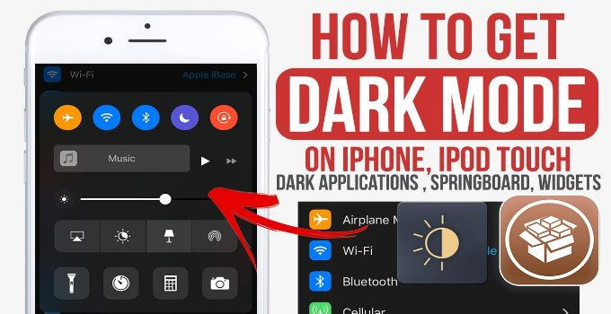 dark mode ios 10 jailbreak